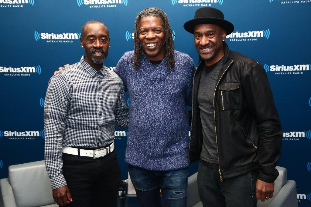 Don Cheadle with Mark and Marcus Miller