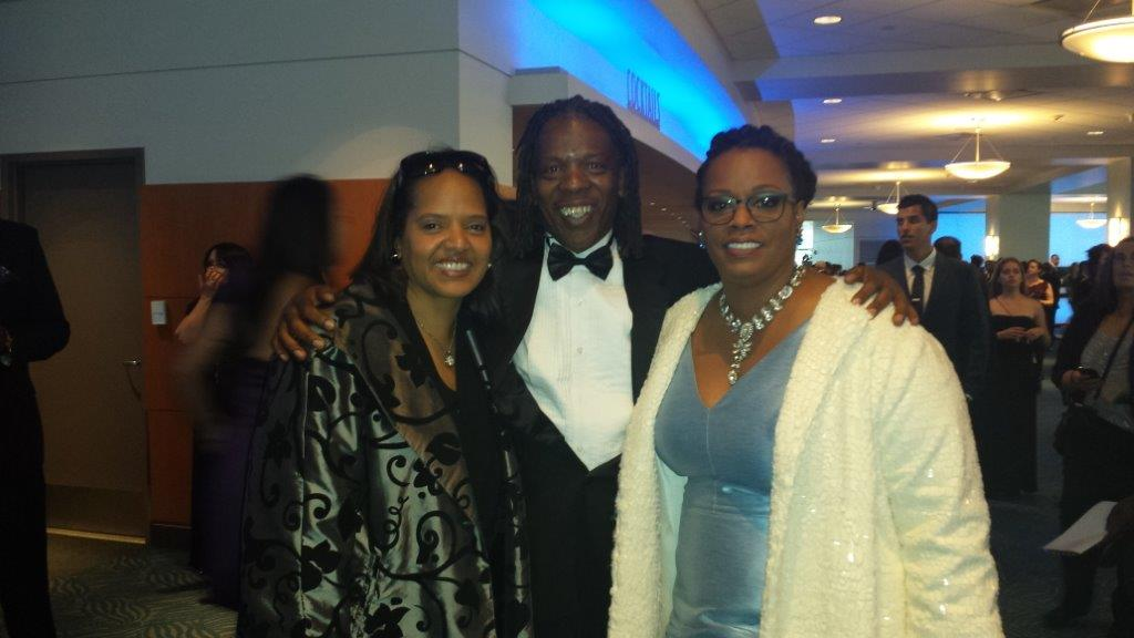 Mark at the Grammys with Terri Lyne Carrington and Dianne Reeves