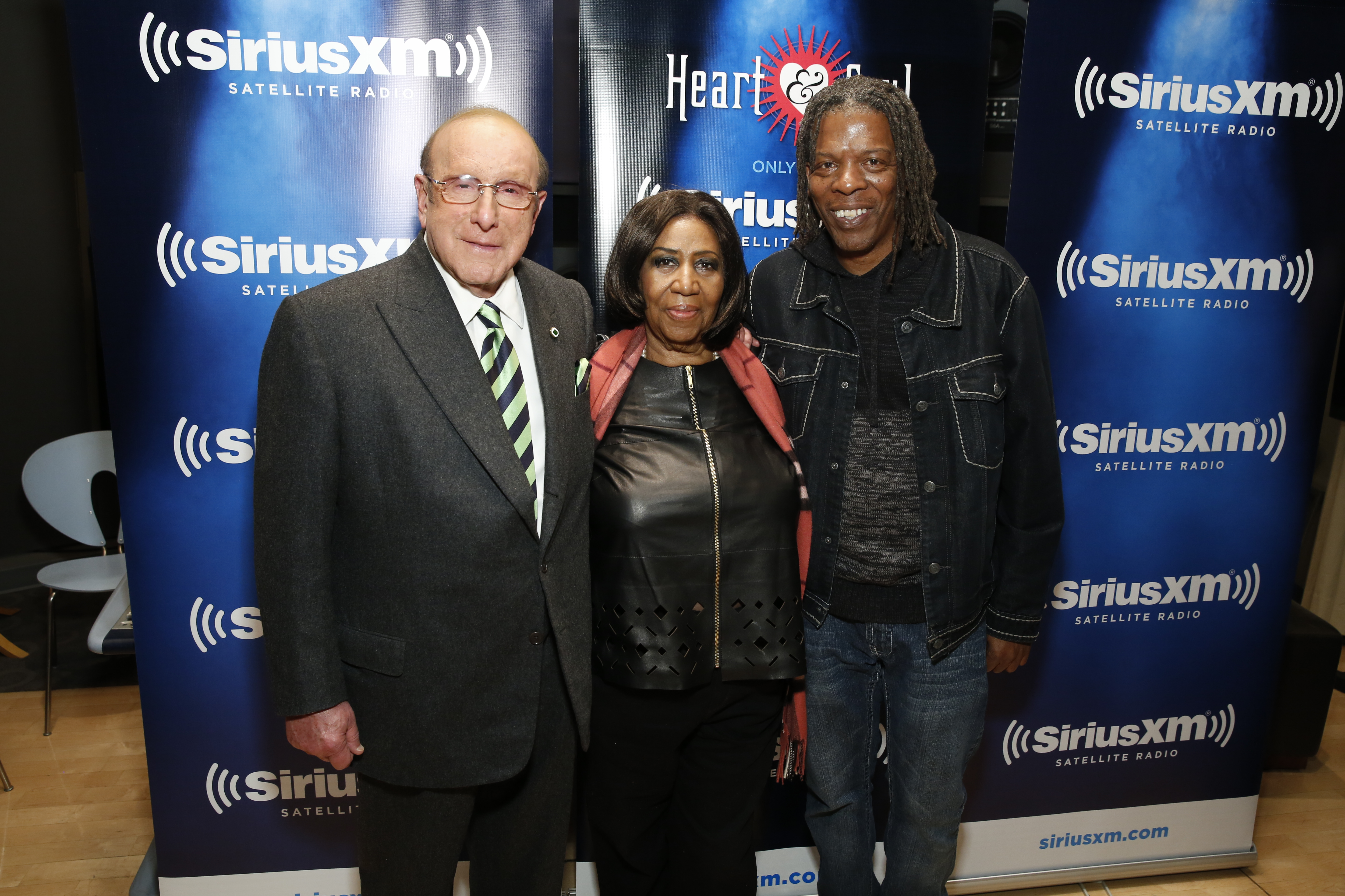 Mark with Aretha Franklin and Clive Davis