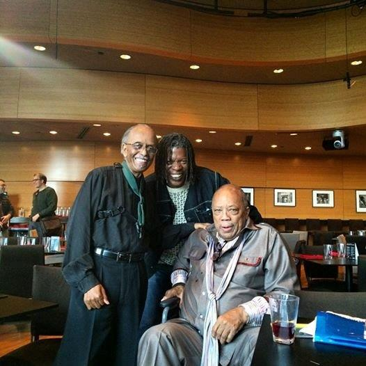 Mark with Jimmy Heath and Quincy Jones at Dizzys