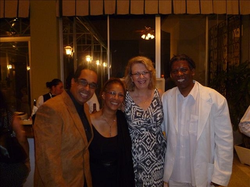 danilo perez - dr valerie hepburn - american ambassador to panama phyllis powers and mark