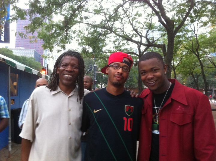 Mark with Sid Ruffin and Maurice Brown