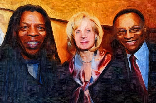 mark with jan and ramsey lewis in painting